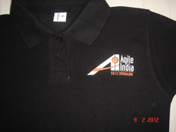 Agile India 2012 Conference TShirt Front Logo